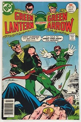 GREEN LANTERN #95, Classic Green Arrow Assassin Cover by Mike Grell, Mid-Grade