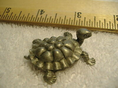 Miniature Hudson Pewter Turtle (c)Wilson USA, Great Stocking Stuffer!