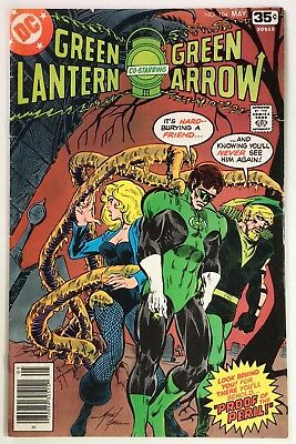 GREEN LANTERN #104, Creepy Tentacle Cover by Mike Grell, Mid-Grade