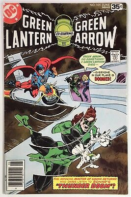 GREEN LANTERN #105, w/ Green Arrow, Awesome Mike Grell Sonar Cover, Mid-Grade
