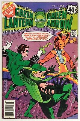 GREEN LANTERN #114, Green Arrow team up, Awesome Crumbler Cover, Mid-Grade
