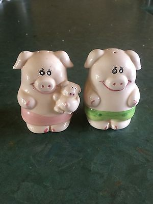 Pig Family Salt and Pepper Shakers