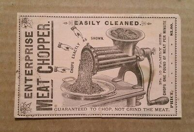 Enterprise Meat Chopper,M.S.Young & Co.Allentown,Pa.,Trade Card,1890's