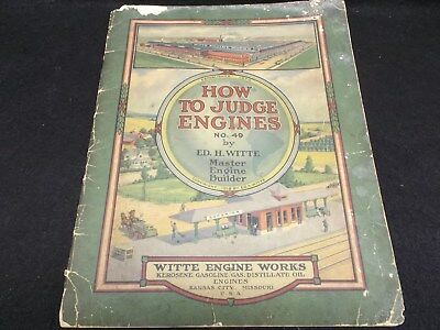 Antique 1918 Witte Engine Catalog Brochure Rough