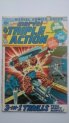 Marvel Triple Action # 1  -Vf  Fantastic Four Dr Doom  Silver Surfer  Cents 1972