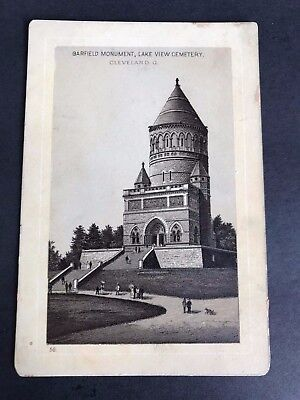 1890's Garfield Monument, Lake View photo-style Jersey Coffee Ad Trade Card