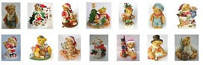 Christmas Cherished Teddies * LOT of 15 *  Holiday by ENESCO