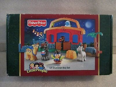 NEW Fisher Price Little People Kids Lil' Drummer Boy Christmas Playset Music