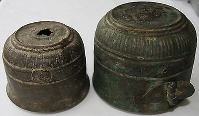 Set of two copper containers. Possibly late Ottoman Empire. Turkish. Turkey.