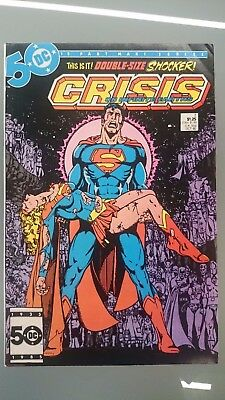 Crisis On Infinate Earths # 7  Vf+  Death Of Supergirl Perez Wolfman Cents 1985