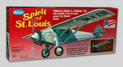 Guillow's Kit 807 Spirit of St. Louis Scale 3/4