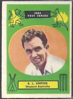A&BC-CRICKET ERS 1961 TEST SERIES (90mm x 64mm)-#40- WESTERN AUSTRALIA - SIMPSON