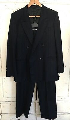 """Vintage Italian Wool Suit Chest Size 40"""" Trousers W32 L30"""" 1940's 1950's Style"""
