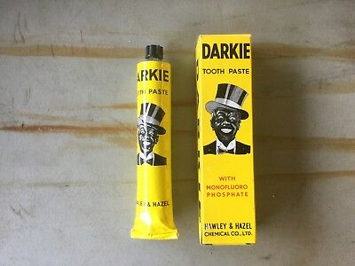 Vintage NOS Darkie Tooth Paste / Box and Tube Excellent Cond. Black Americana