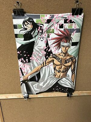 Lot Of 2 Bleach Anime Posters 21x15 All Laminated (used)