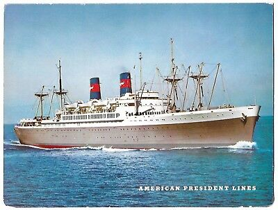 Vintage American President Lines,  Cleveland And Wilson Card Brochure
