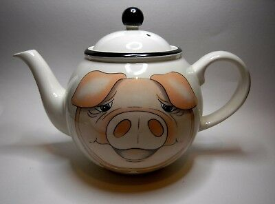 Ceramic Teapot Made in England by Arthur Wood Featuring a Pig