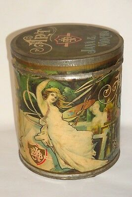 Nice Old Paper Label Art Quality Mocha Java Brand Advertising Coffee Tin Can