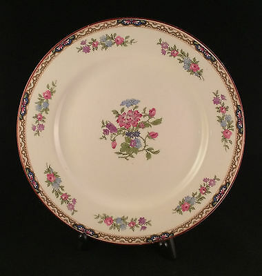 J And G Meakin Sol Ware Dinner Plate Chatsworth Floral Pink Blue Ivory England