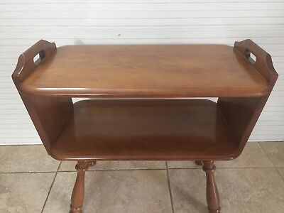 "Vintage American Maple Furniture Maple Tiered End Table, 24"" x 13 1/2"" x 21"" T"