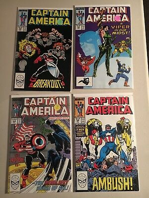 CAPTAIN AMERICA 17 issue lot 340-356  VF condition or better
