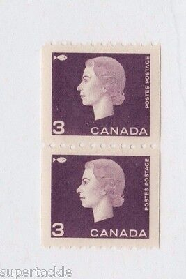1962 Canada #407 ** MNH VF coil. Perfectly centered QEII cameo. Fish