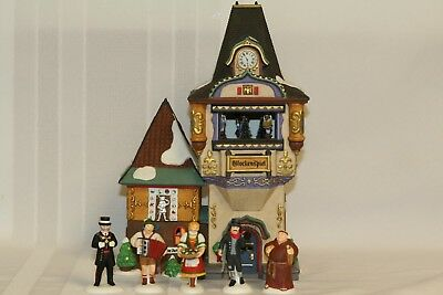 Dept 56 Alpine Village Glockenspiel & Alpine Villagers Set #56210 & #56215