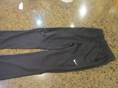 Nike sweat Pants Running boys girls XL Black Fitness tie string waist therma fit