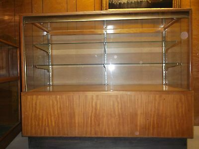 Antique Art Deco Period Showcase Display Case