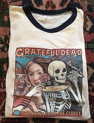 RARE Authentic Vintage GRATEFUL DEAD Skeletons In The Closet 70s CONCERT T-SHIRT