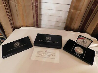 The White House 200Th Anniversary Proof Silver Dollar Coin W/ Coa, Nice, Look