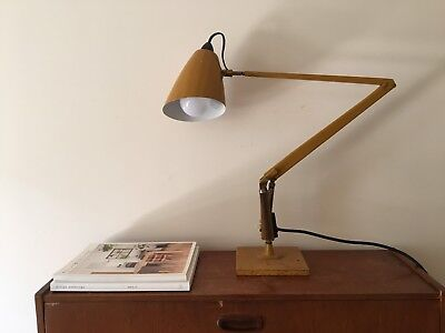 ORIGINAL Industrial Mustard Yellow Planet Desk Lamp