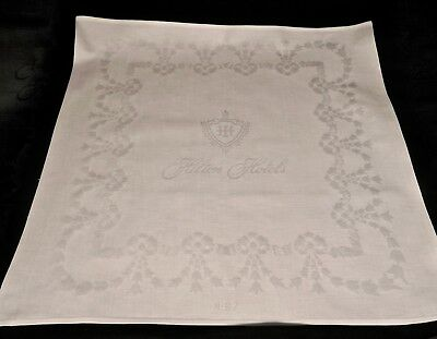 """Large Damask Napkin from  Hilton Hotels No-67 Bows &  Bell Flowers 22x22"""""""