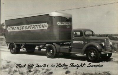 Mack EH Tractor Truck Motor Freigh Service Real Photo Postcard