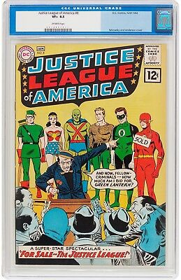Justice League Of America #8  Beautiful Cgc Vf+ 8.5 - 1961 Old Label No Reserve