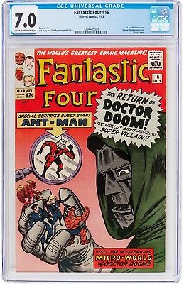 Fantastic Four #16  Cgc F/vf 7.0 - Early Ant-Man 1963 - Beautiful Book!