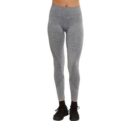 Sweet Romeo 7348 Womens Gray Compression Quick Dry Athletic Leggings S/M BHFO