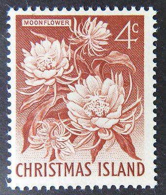 1963 Christmas Island Definitive Stamps - Single 4c - Moonflower MNH