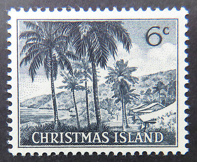 1963 Christmas Island Definitive Stamps - Single 6c MNH