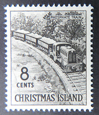 1963 Christmas Island Definitive Stamps - Single 8c - Phosphate Train MNH