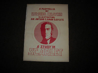 Howard Chaykin Portfolio  - Study In Scarlet - Signed/numbered #973