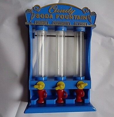 Vintage Toy Candy Soda Fountain Dispenser with Cups
