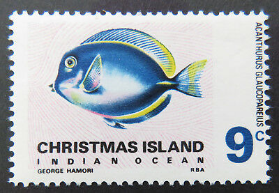 1968 Christmas Island Stamps - Indian Ocean Fish Definitives - Single 9c MNH