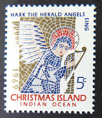 1969 Christmas Island Stamps - Christmas - Mosaic Angel - Single 5c MNH