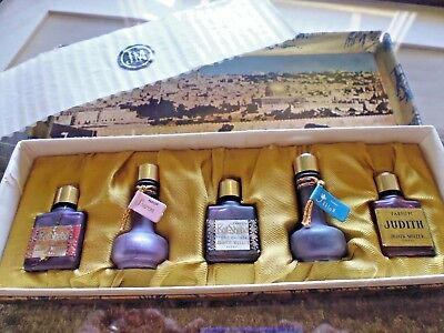 Vintage Judith Muller Miniature Perfume Set with Contents - RARE Jerusalem Set