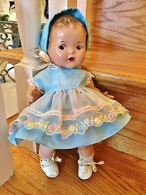 """Vintage 1940 Arranbee Dream Baby VHTF ALL composition, 12"""" side glance doll"""