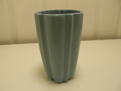 "Authentic Catalina Island Pottery Large 7.5"" Starlight Vase, LT 22"