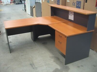 Reception Desk, Corner Desk With Side Return & Drawers.