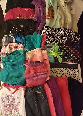 HUGE LOT GIRLS CLOTHES Winter Fall Size 14/16 XL Jeans Hoodies Tops Dresses