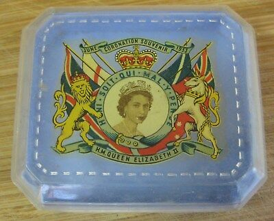 1953 Queen Elizabeth 11 Coronation Souvenir Trinket Box Jewelry